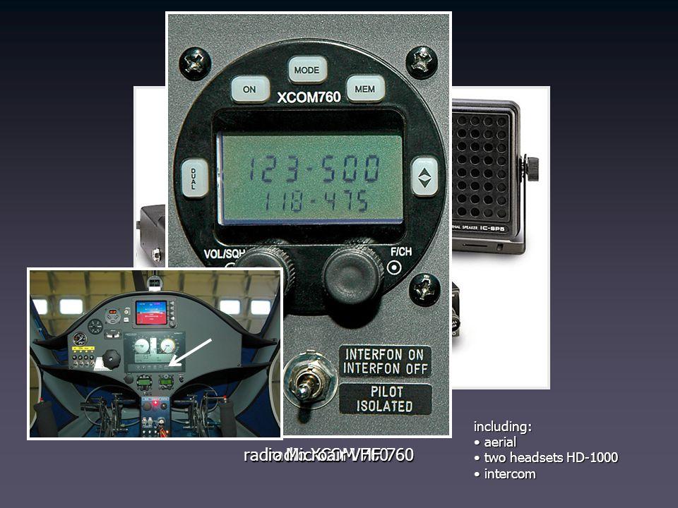radio Icom IC-A200 radio Microair VHF 760 radio XCOM 760 including: