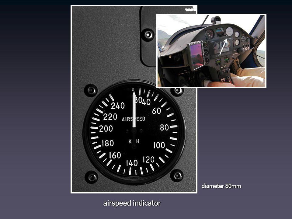 diameter 80mm airspeed indicator