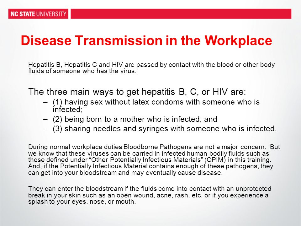 Disease Transmission in the Workplace