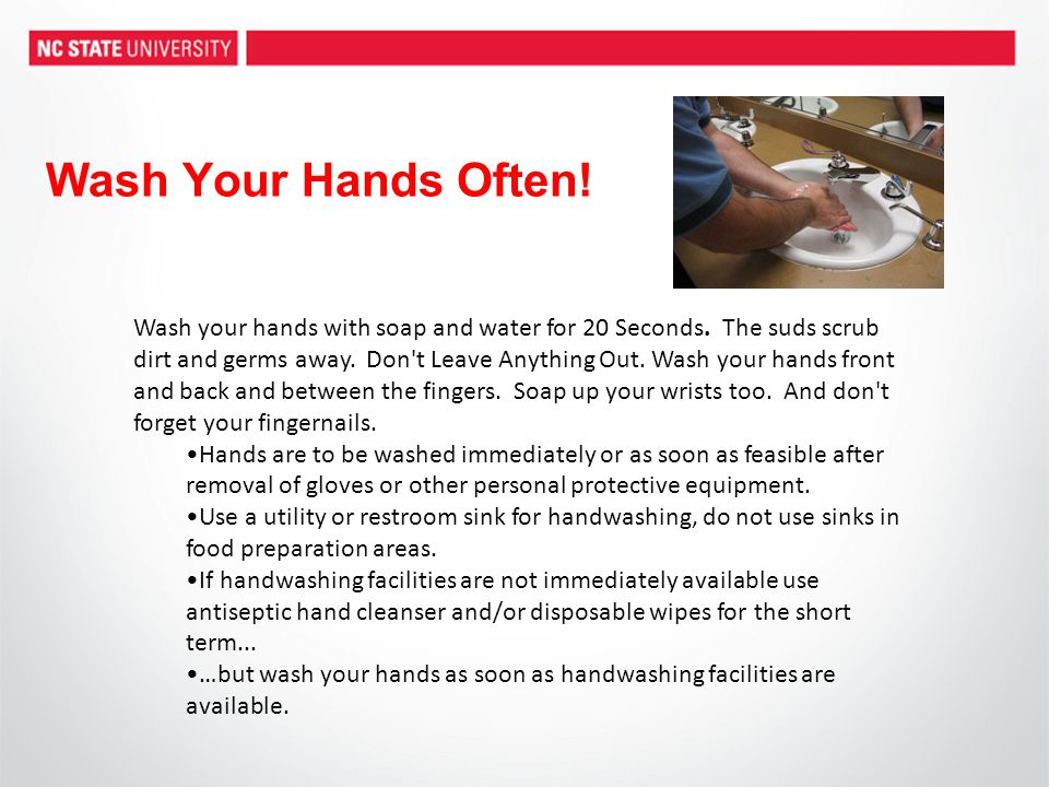 Wash Your Hands Often!