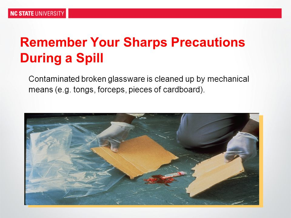 Remember Your Sharps Precautions During a Spill