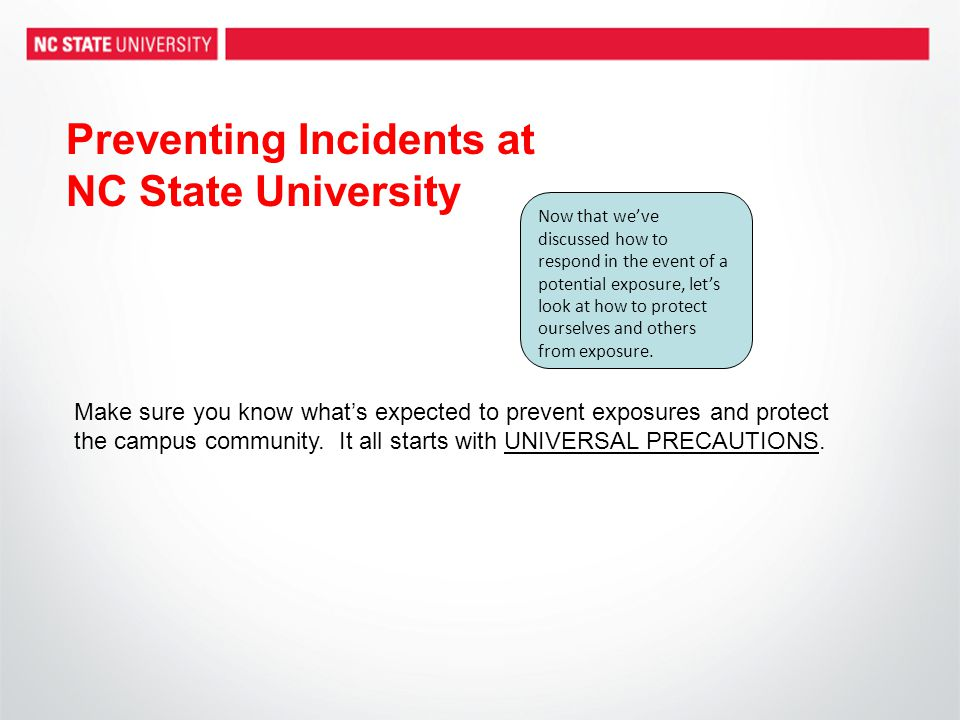Preventing Incidents at NC State University