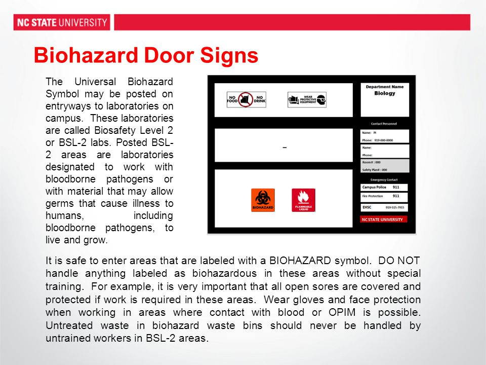 Biohazard Door Signs