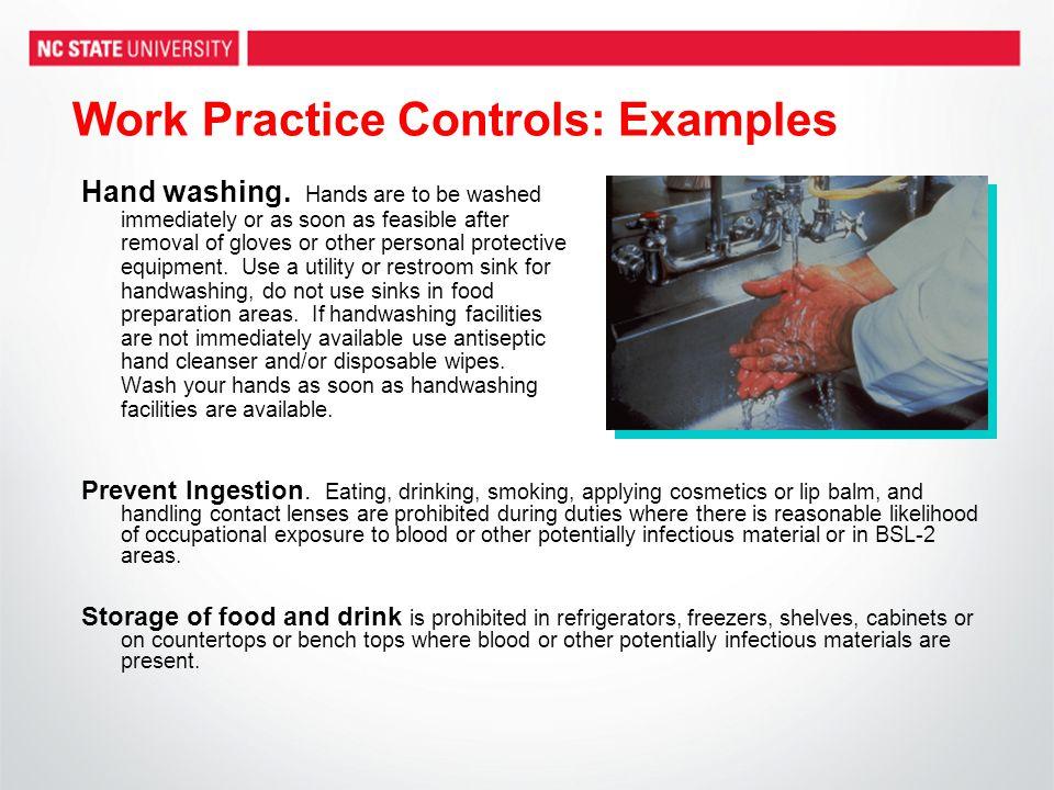 Work Practice Controls: Examples