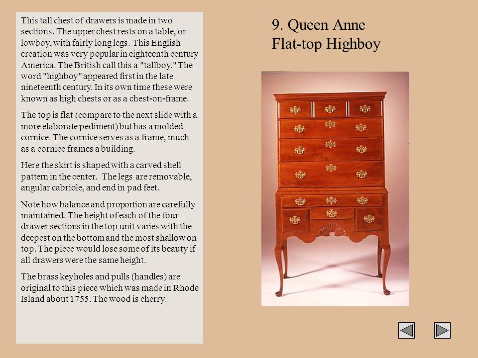 9. Queen Anne Flat-top Highboy
