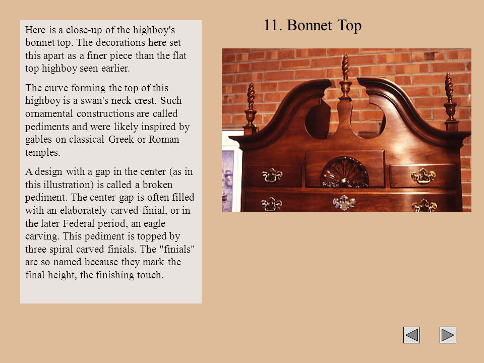 11. Bonnet Top