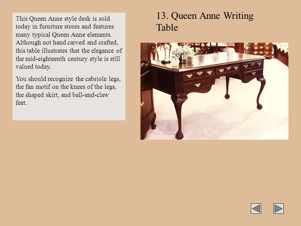 13. Queen Anne Writing Table