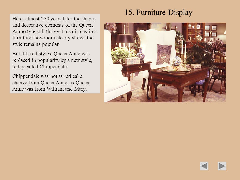 15. Furniture Display