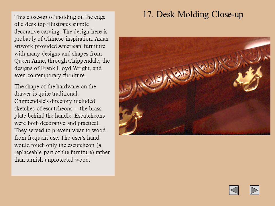 17. Desk Molding Close-up