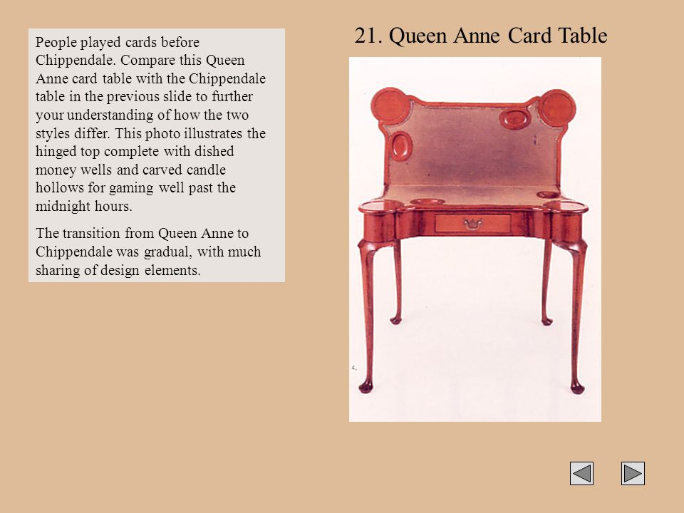 21. Queen Anne Card Table