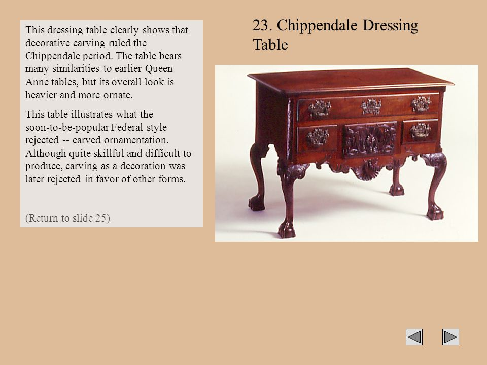 23. Chippendale Dressing Table