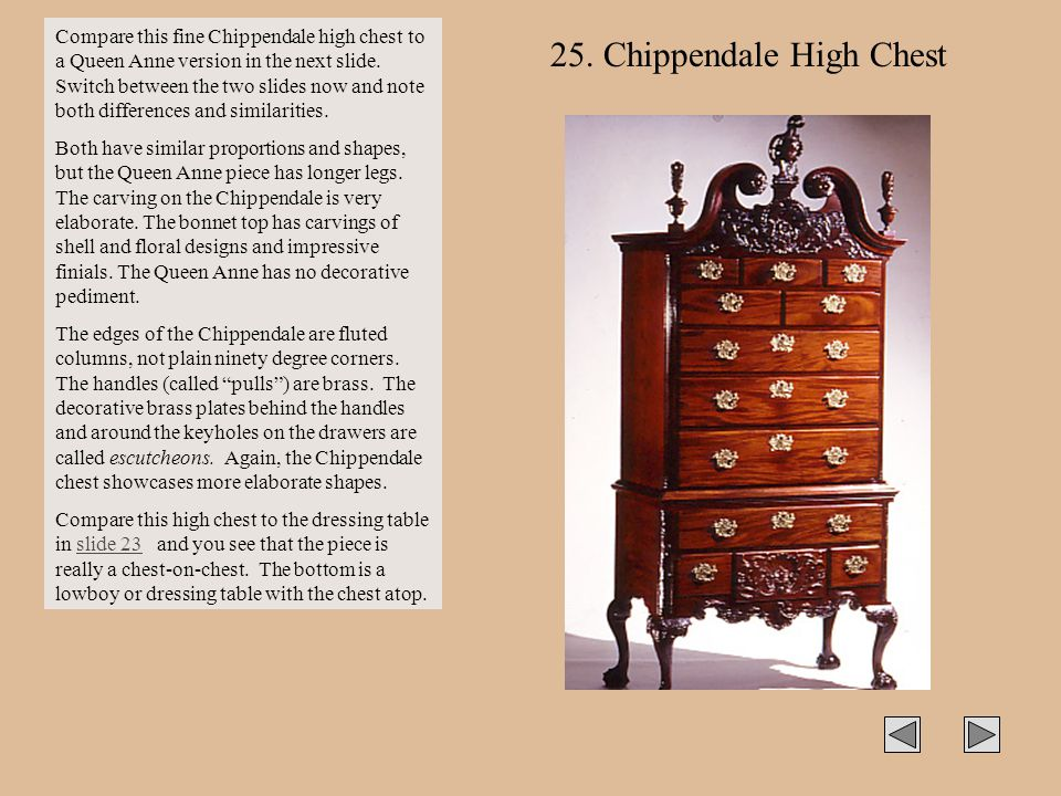 25. Chippendale High Chest