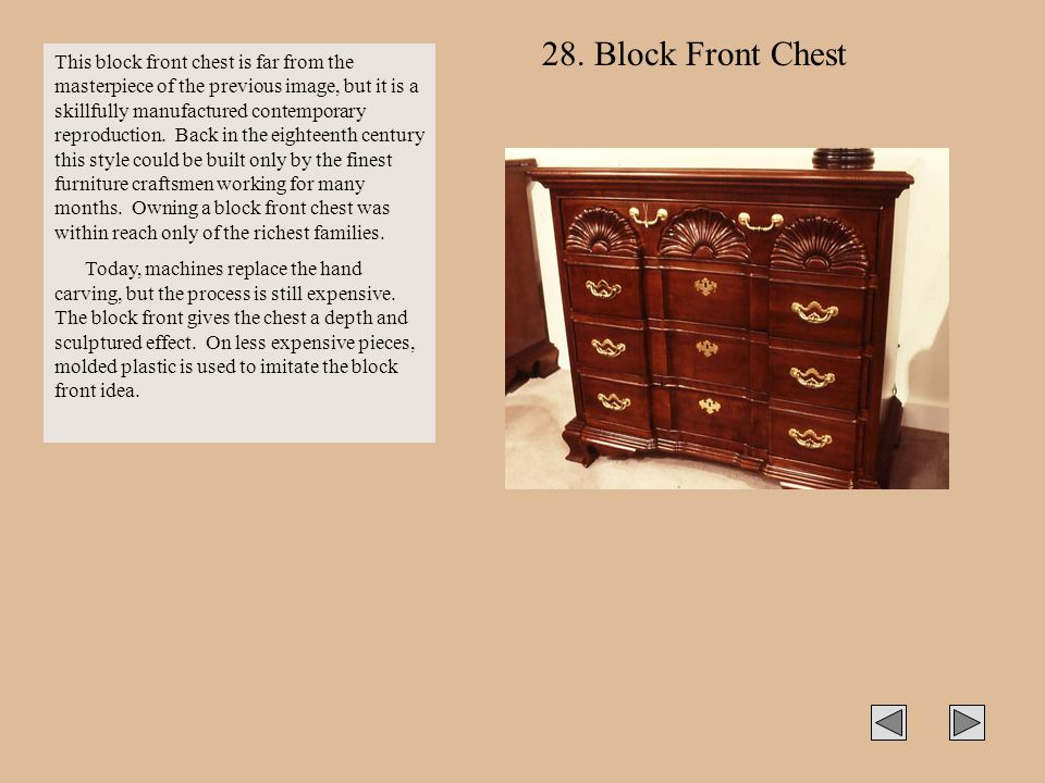 28. Block Front Chest