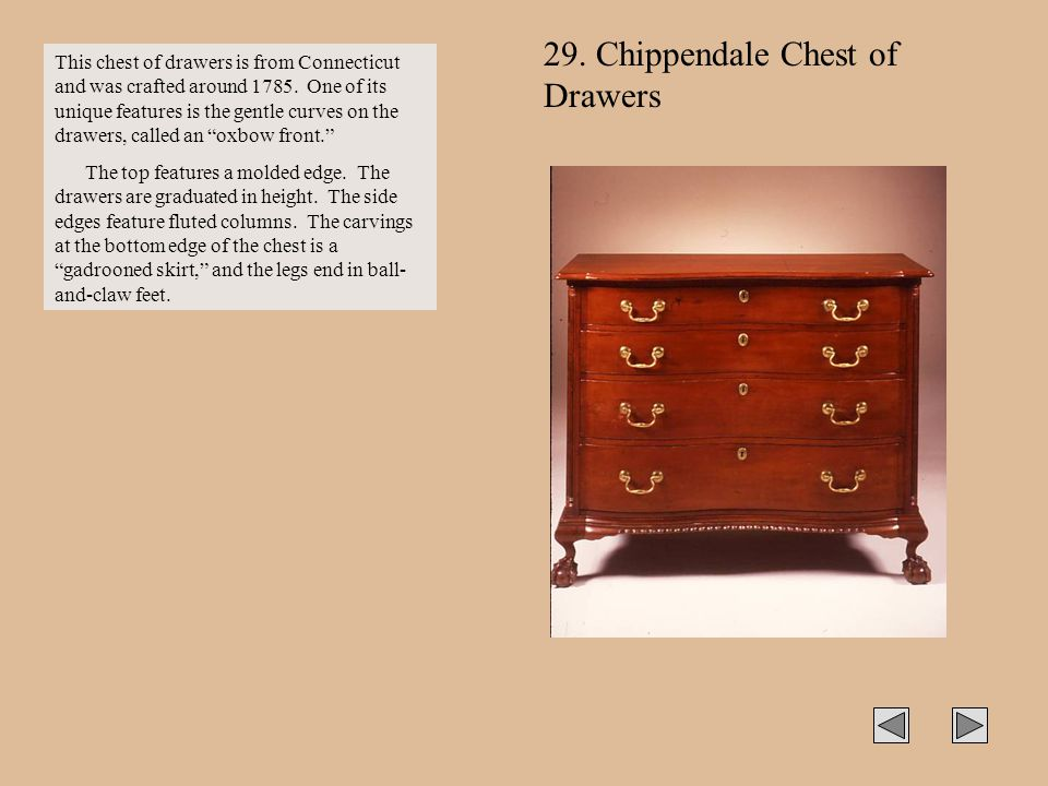 29. Chippendale Chest of Drawers