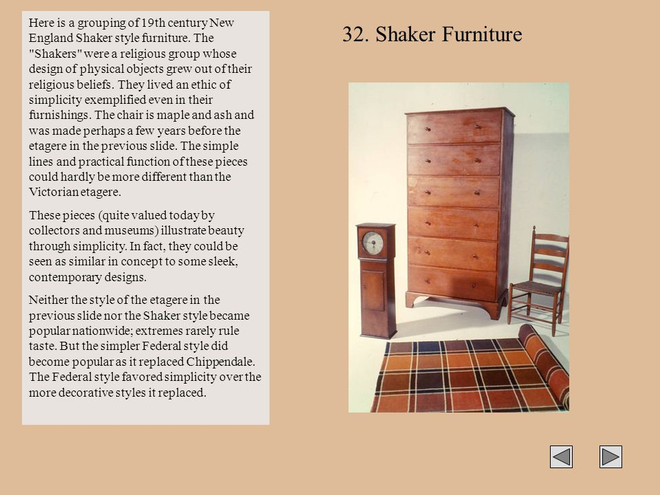 Here is a grouping of 19th century New England Shaker style furniture
