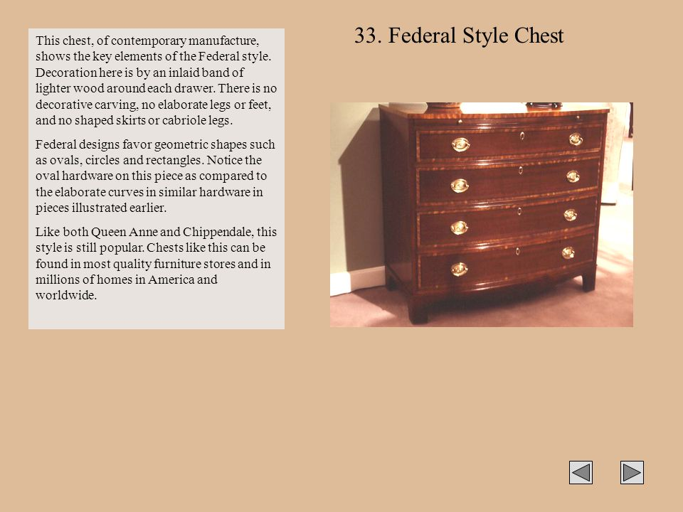 33. Federal Style Chest
