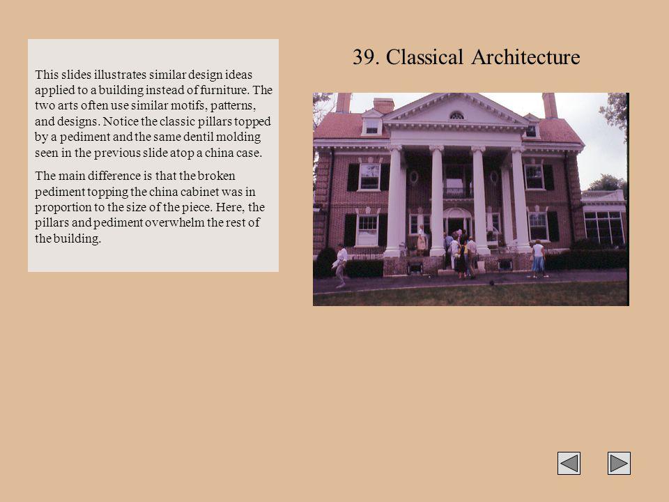 39. Classical Architecture