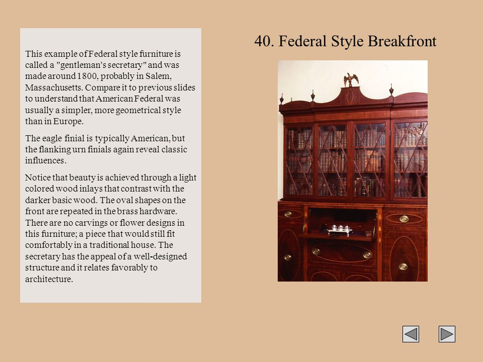 40. Federal Style Breakfront
