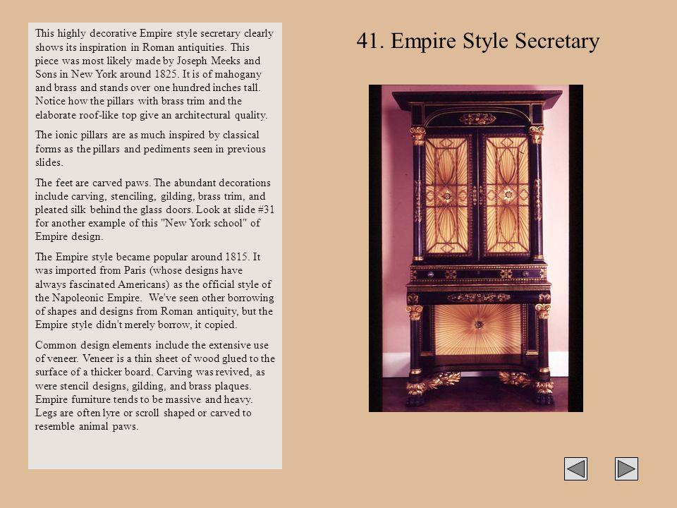 41. Empire Style Secretary