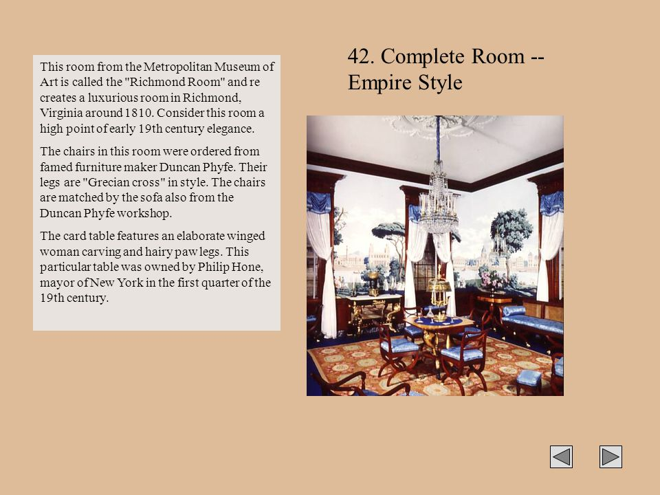 42. Complete Room -- Empire Style