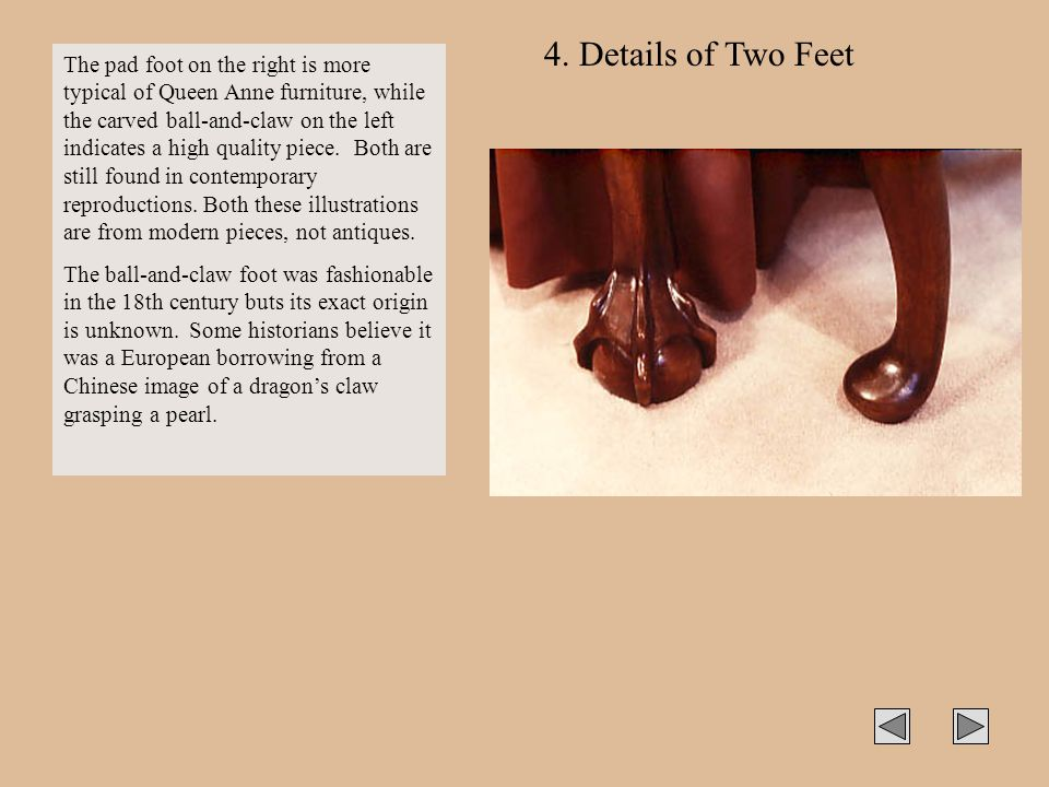 4. Details of Two Feet