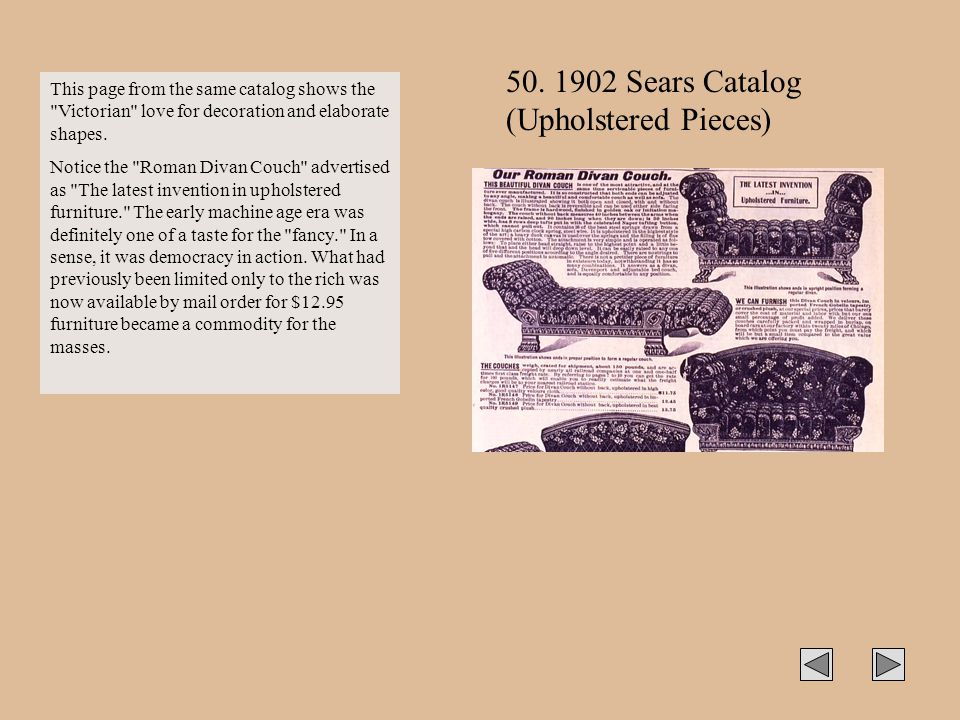 50. 1902 Sears Catalog (Upholstered Pieces)