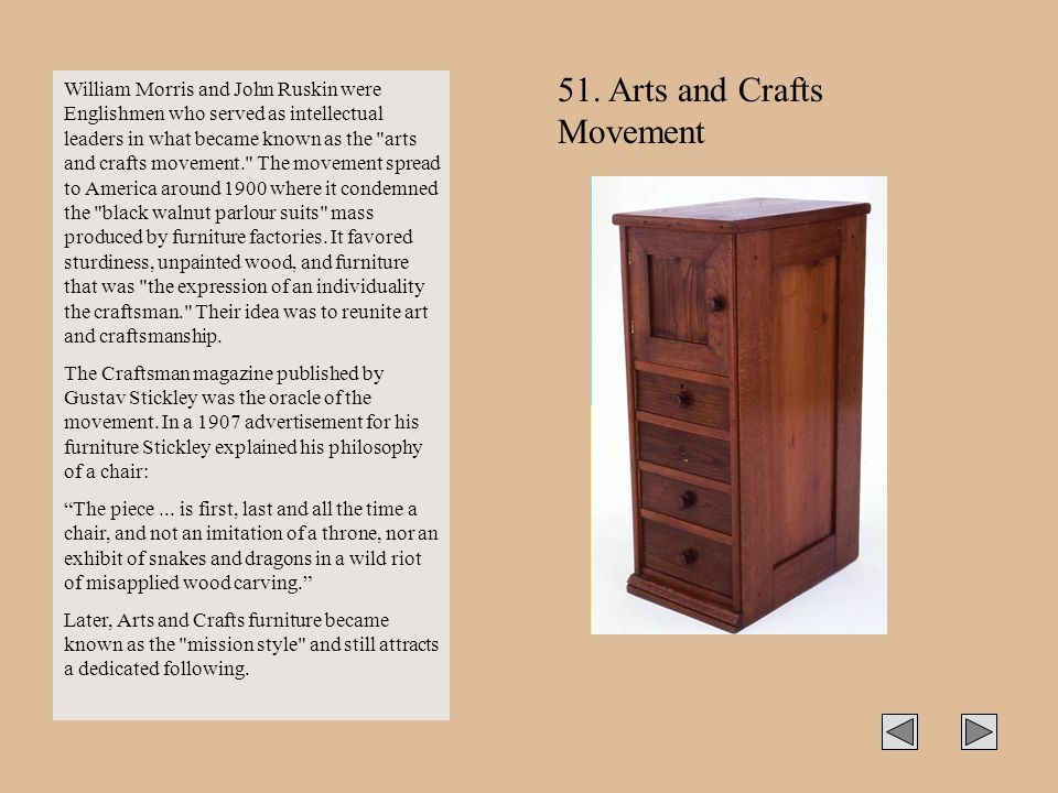51. Arts and Crafts Movement