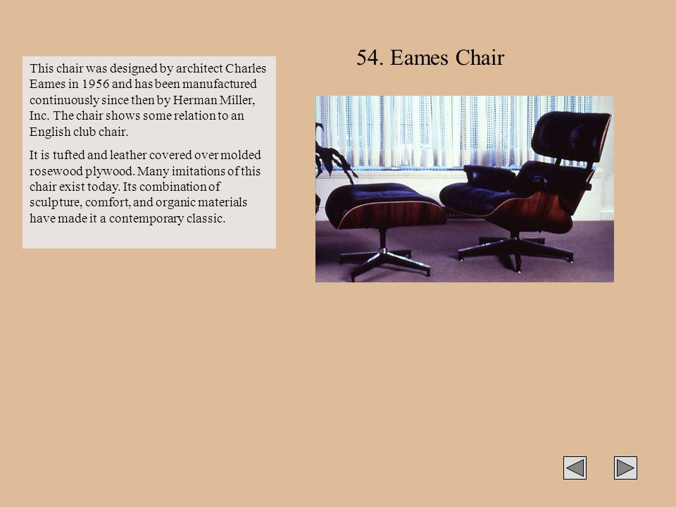 54. Eames Chair