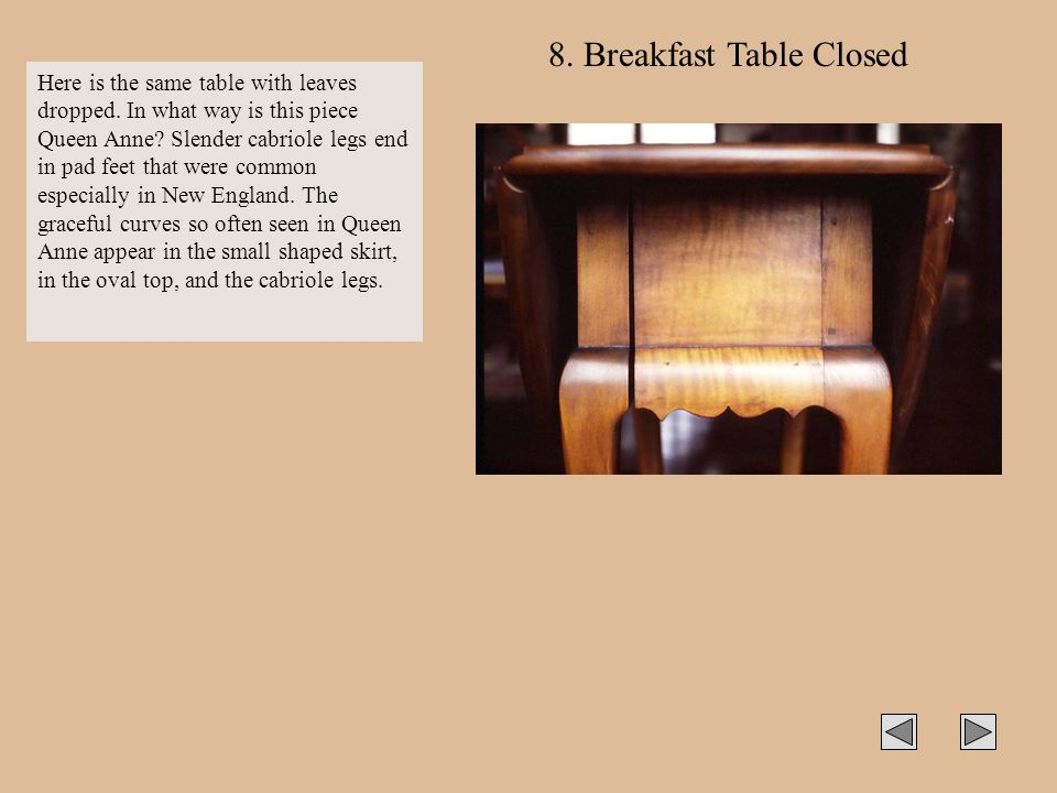 8. Breakfast Table Closed