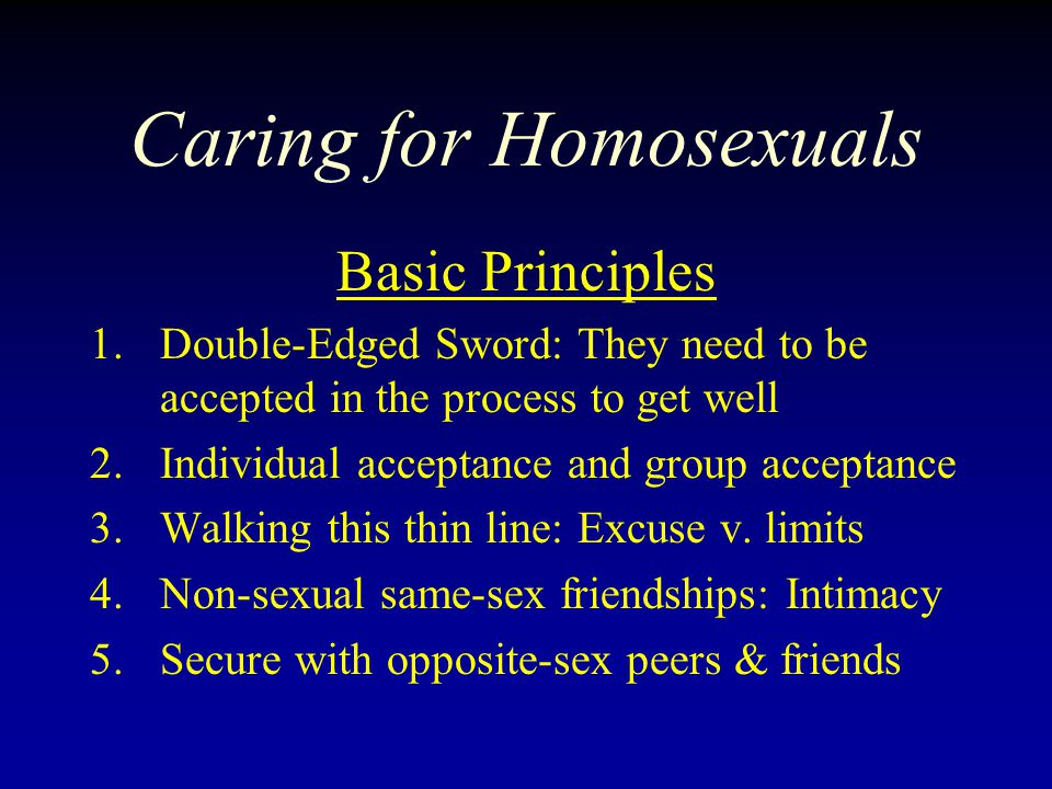 Caring for Homosexuals