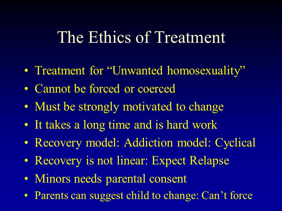 The Ethics of Treatment