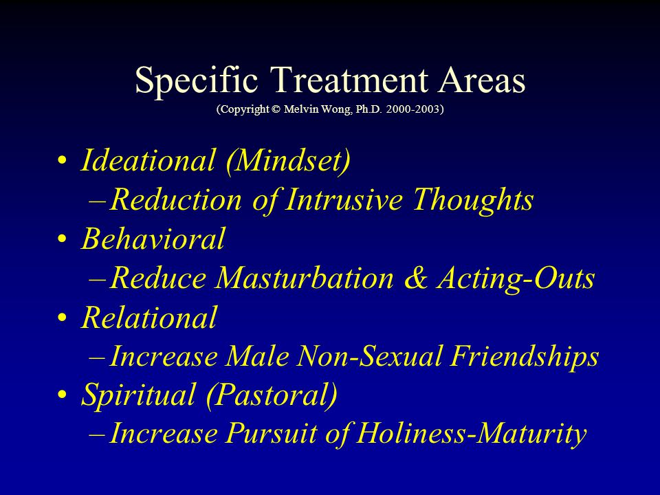 Specific Treatment Areas (Copyright © Melvin Wong, Ph.D. 2000-2003)