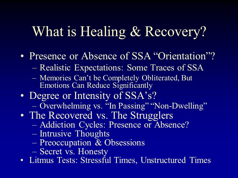 What is Healing & Recovery