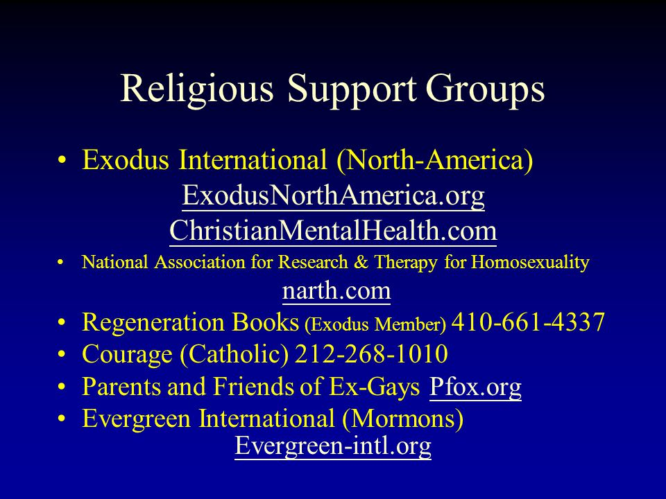 Religious Support Groups