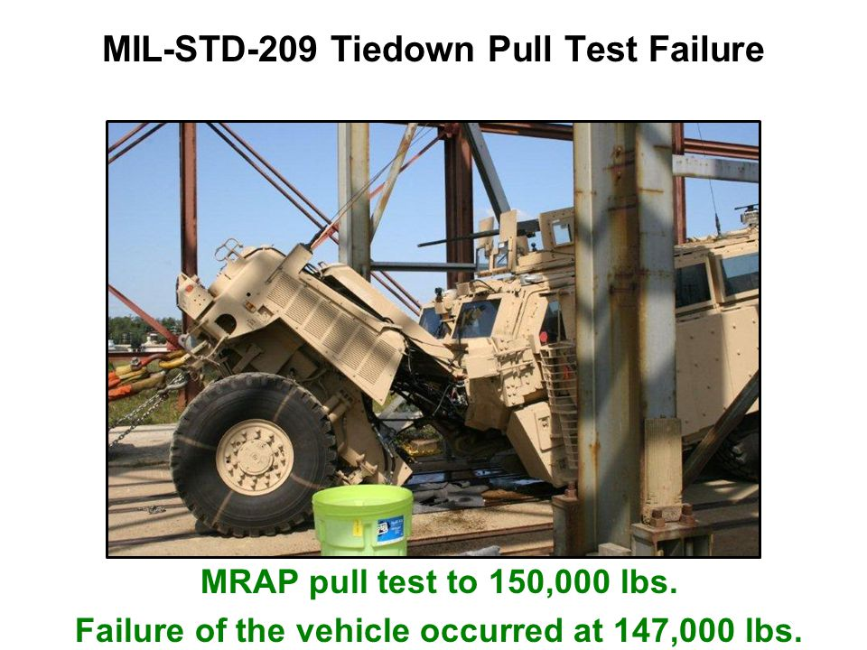 MIL-STD-209 Tiedown Pull Test Failure