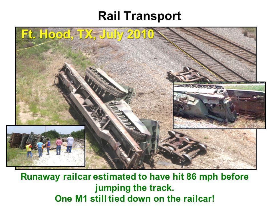 Rail Transport Ft. Hood, TX, July 2010