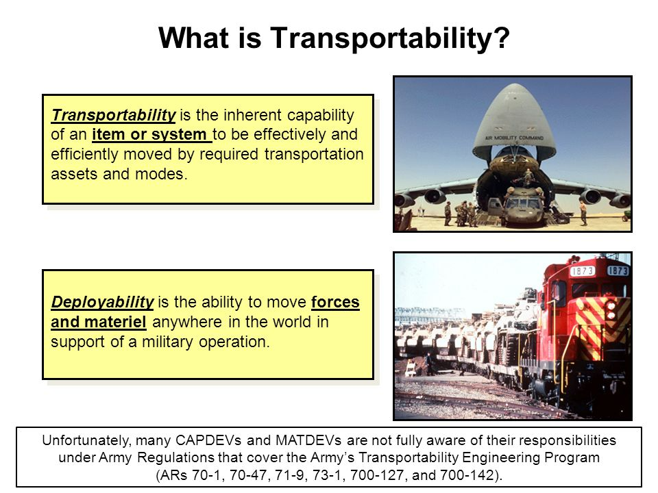 What is Transportability