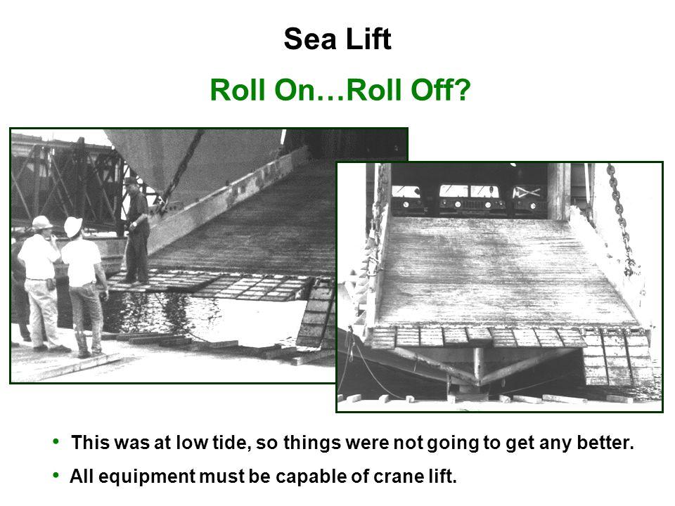 Sea Lift Roll On…Roll Off