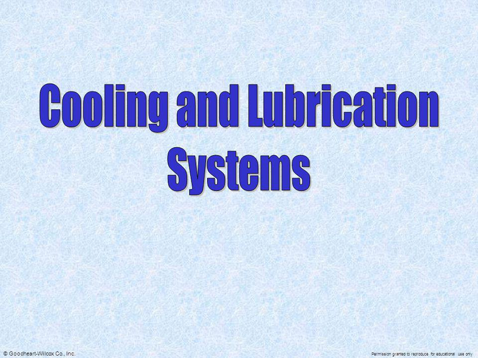 Cooling and Lubrication