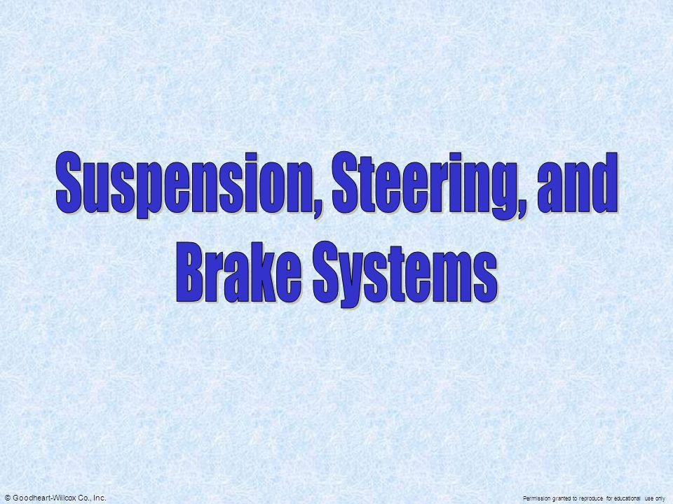 Suspension, Steering, and
