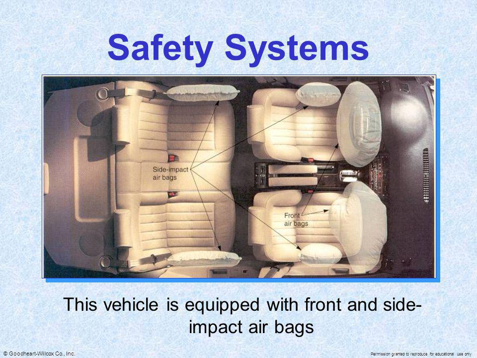 This vehicle is equipped with front and side-impact air bags