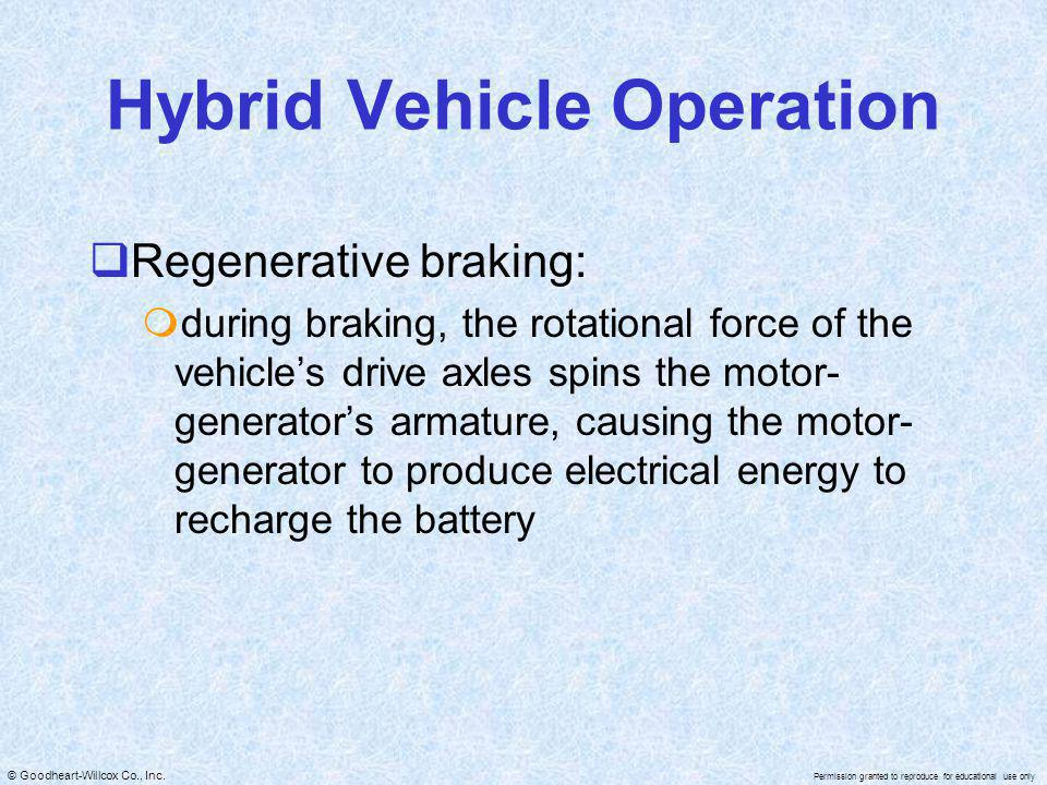 Hybrid Vehicle Operation