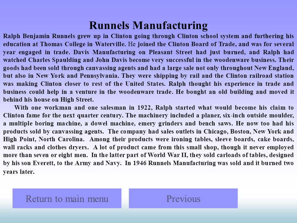 Runnels Manufacturing