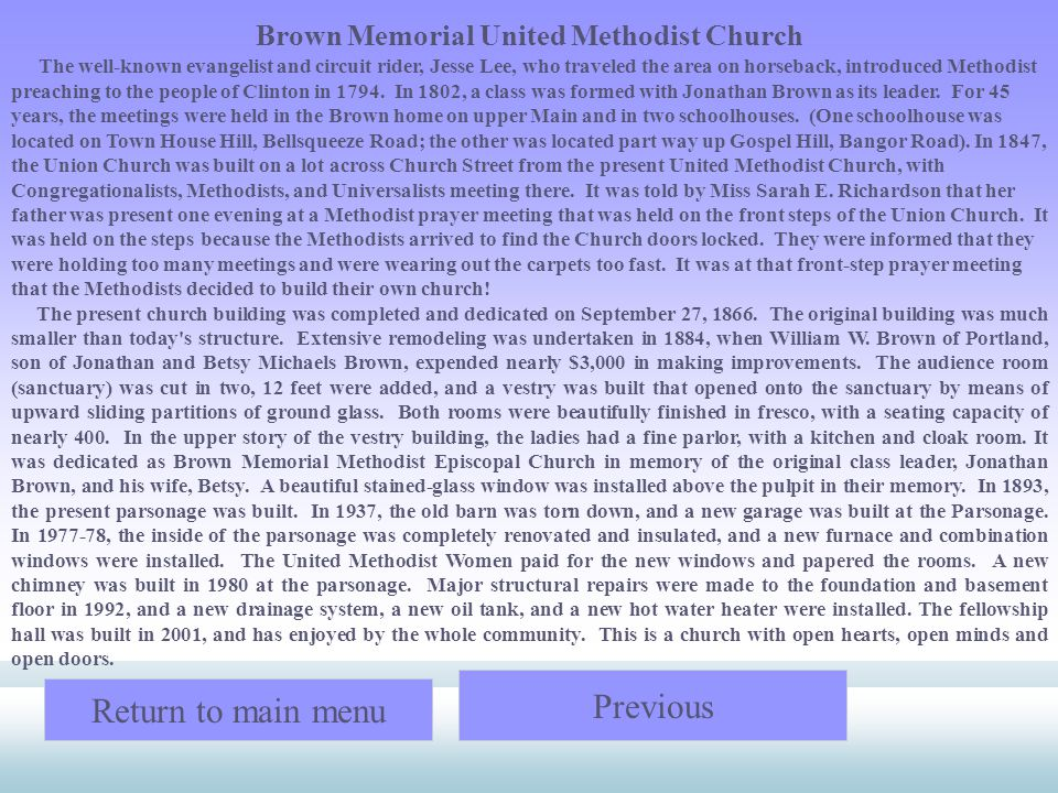 Brown Memorial United Methodist Church