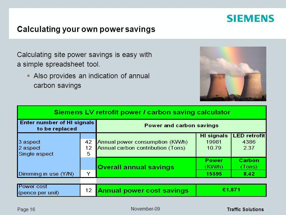 Calculating your own power savings