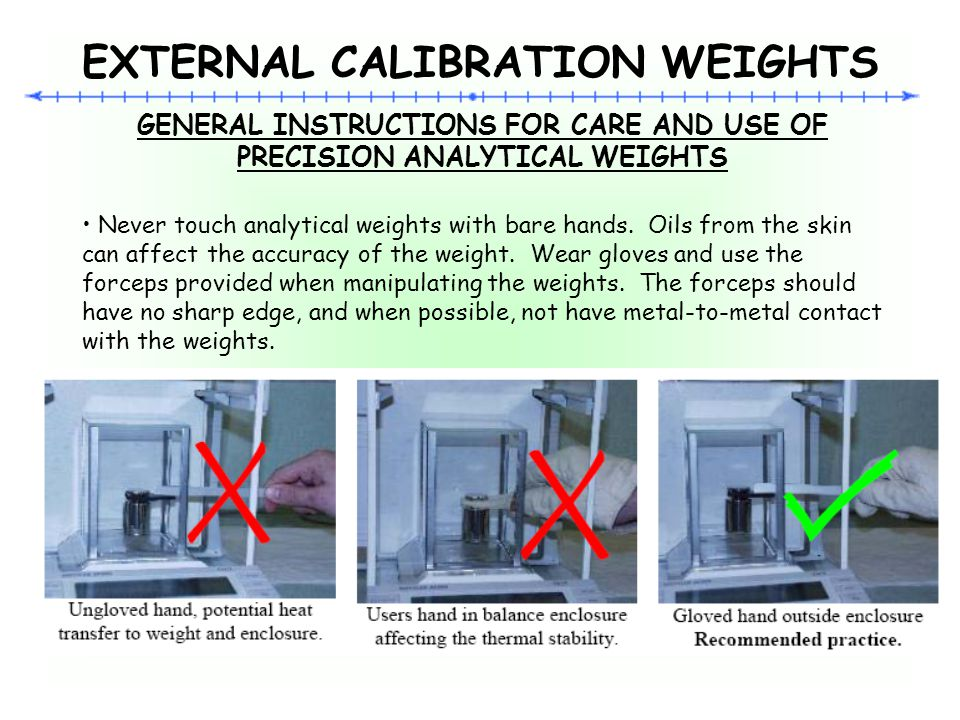 EXTERNAL CALIBRATION WEIGHTS