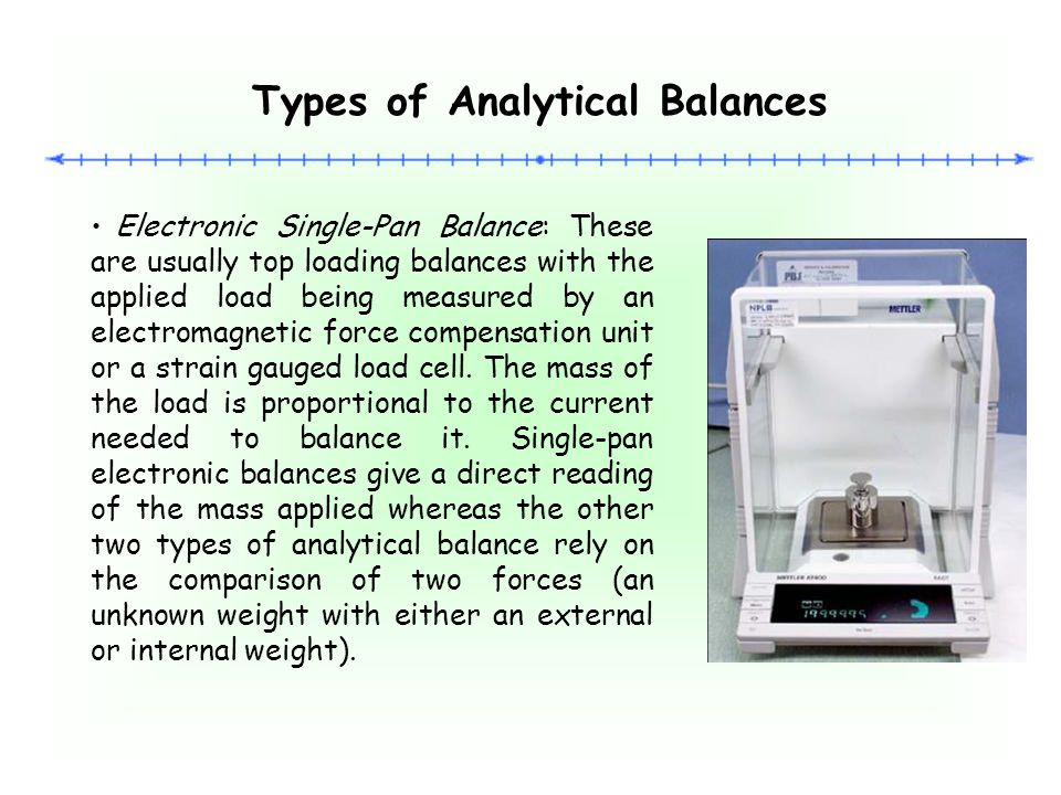 Types of Analytical Balances
