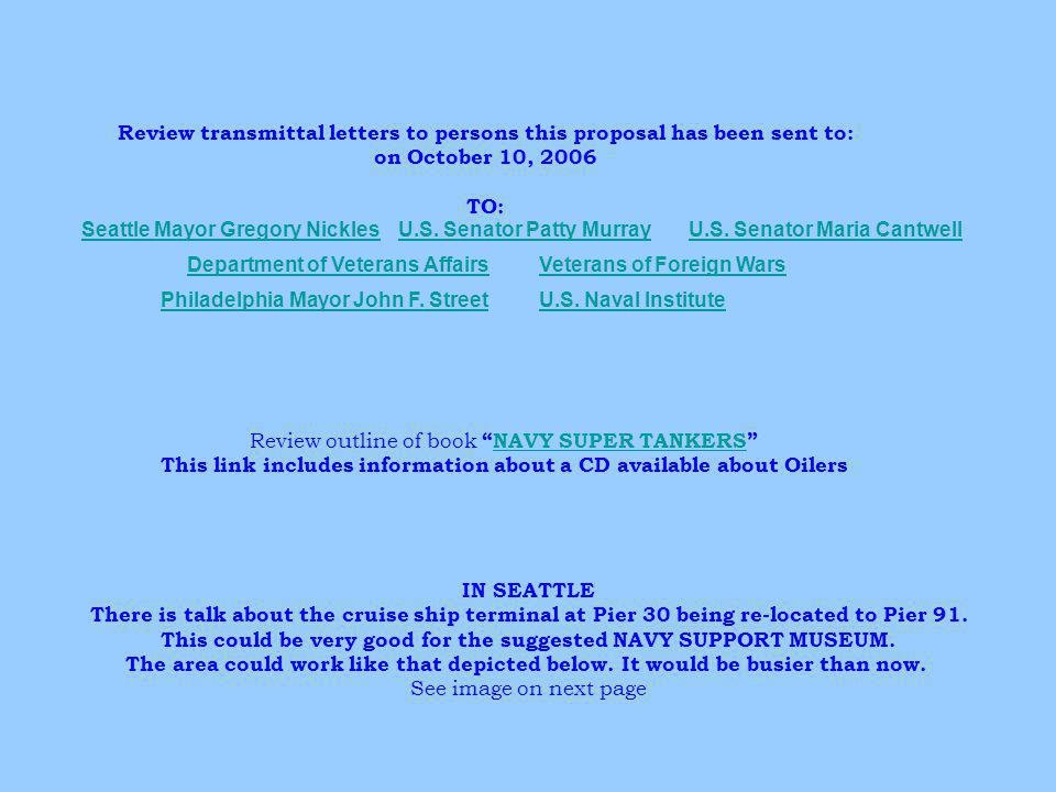 Review transmittal letters to persons this proposal has been sent to: