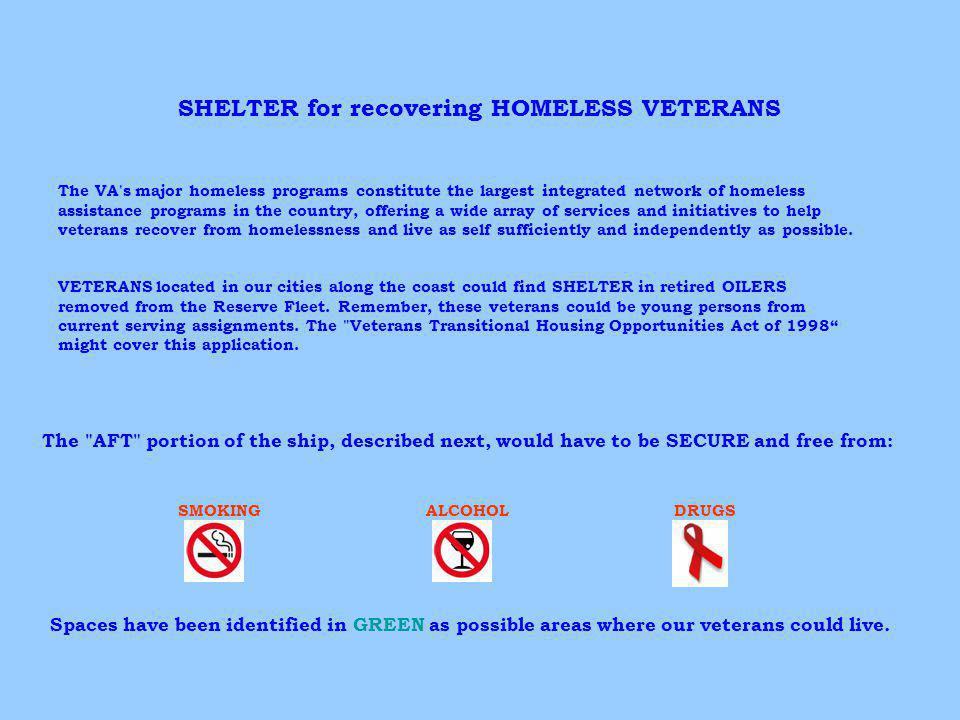 SHELTER for recovering HOMELESS VETERANS