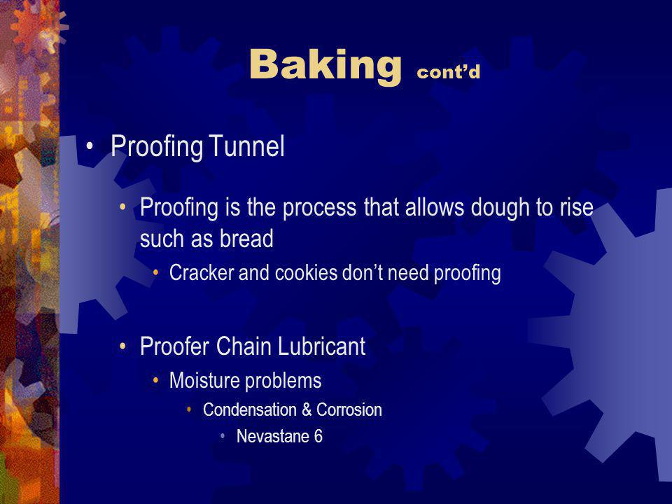 Baking cont'd Proofing Tunnel